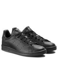 Czarne półbuty Adidas z paskami, z cholewką