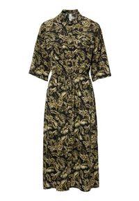 Czarna długa sukienka Soyaconcept szmizjerki