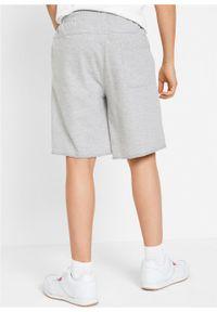 Szare spodnie bonprix z nadrukiem