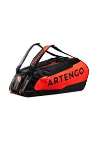 ARTENGO - Torba tenisowa 930 L na 9 rakiet. Kolor: pomarańczowy, czarny, wielokolorowy, czerwony. Sport: tenis