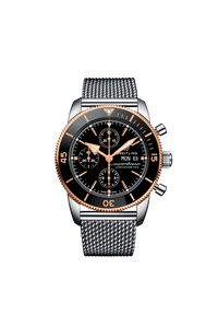 Czarny zegarek BREITLING sportowy