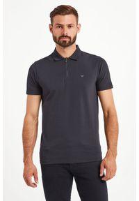 Koszulka polo Emporio Armani w kolorowe wzory, sportowa