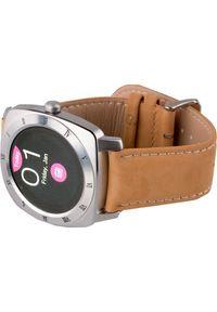 SMARTGPS - Smartwatch SmartGPS SMW01 Brązowy. Rodzaj zegarka: smartwatch. Kolor: brązowy