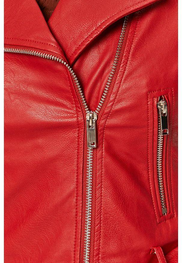 Czerwona kurtka TALLY WEIJL bez kaptura, na co dzień, casualowa