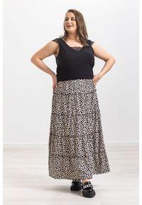 Spódnica Moda Size Plus Iwanek krótka, na wiosnę, z motywem zwierzęcym