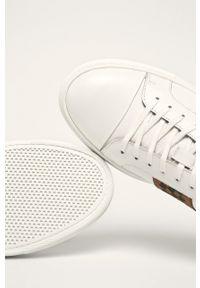 Białe sneakersy Aldo na sznurówki, z cholewką