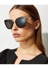 Tom Ford - TOM FORD - Czarne okulary przeciwsłoneczne Simona. Kolor: czarny