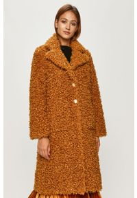 Pomarańczowy płaszcz Pinko na co dzień, klasyczny