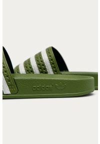 Zielone klapki adidas Originals