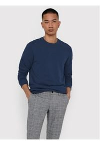 Only & Sons - ONLY & SONS Bluza Ceres Life Crew 22018683 Granatowy Regular Fit. Kolor: niebieski