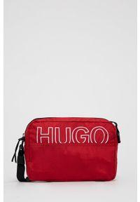 Hugo - Torebka. Kolor: czerwony. Rodzaj torebki: na ramię