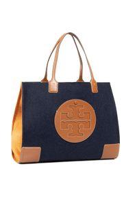 Niebieska torebka klasyczna Tory Burch