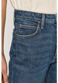 Niebieskie jeansy Lee z podwyższonym stanem