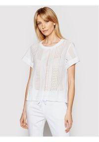 Marella T-Shirt Brunner 39410812 Biały Regular Fit. Kolor: biały
