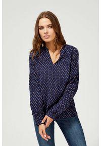 Koszula MOODO w geometryczne wzory, długa, z długim rękawem