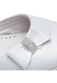 Białe buty komunijne Sergio Bardi Young z aplikacjami, wizytowe