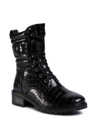 Czarne buty trekkingowe Jenny Fairy z aplikacjami