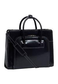 """MCKLEIN - Skórzana teczka damska Mcklein Lake Forest 94335 na laptopa 15,4"""" czarna. Kolor: czarny. Materiał: skórzane. Styl: biznesowy, klasyczny, elegancki, casual. Rodzaj torebki: do ręki"""
