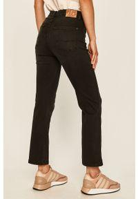 Czarne jeansy Pepe Jeans z podwyższonym stanem, w kolorowe wzory