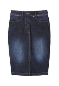Niebieska spódnica TOP SECRET na jesień, klasyczna