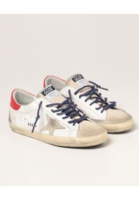GOLDEN GOOSE - Skórzane sneakersy Superstar. Kolor: biały. Materiał: skóra. Szerokość cholewki: normalna. Wzór: aplikacja