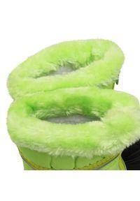 Playshoes - Śniegowce PLAYSHOES - 193007 Grun 29. Kolor: zielony. Materiał: materiał, kauczuk. Wzór: aplikacja