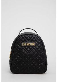 Love Moschino - Plecak. Kolor: czarny. Wzór: aplikacja