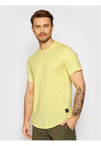 Only & Sons - ONLY & SONS T-Shirt Matt 22002973 Żółty Regular Fit. Kolor: żółty