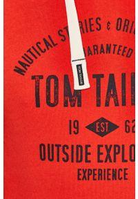 Czerwona bluza nierozpinana Tom Tailor z nadrukiem, na co dzień