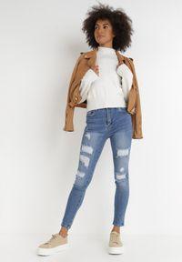 Born2be - Niebieskie Jeansy Skinny Meninassa. Stan: podwyższony. Kolor: niebieski