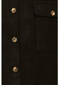 Czarna koszula Noisy may casualowa, z klasycznym kołnierzykiem #4