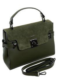 Zielona torebka ROVICKY zamszowa, klasyczna
