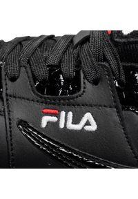 Czarne buty sportowe Fila z cholewką, na płaskiej podeszwie