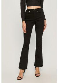 Czarne jeansy Pepe Jeans z podwyższonym stanem