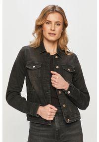 only - Only - Kurtka jeansowa. Okazja: na co dzień. Kolor: szary. Materiał: jeans. Styl: casual