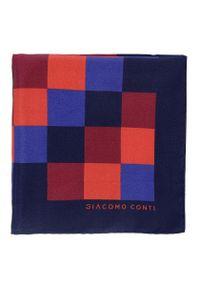 Poszetka Giacomo Conti w kolorowe wzory