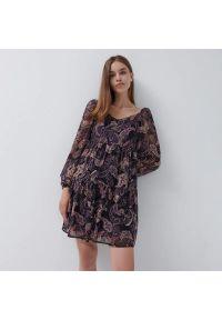 House - Szyfonowa sukienka mini - Wielobarwny. Materiał: szyfon. Długość: mini
