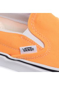 Pomarańczowe półbuty Vans bez zapięcia, z cholewką