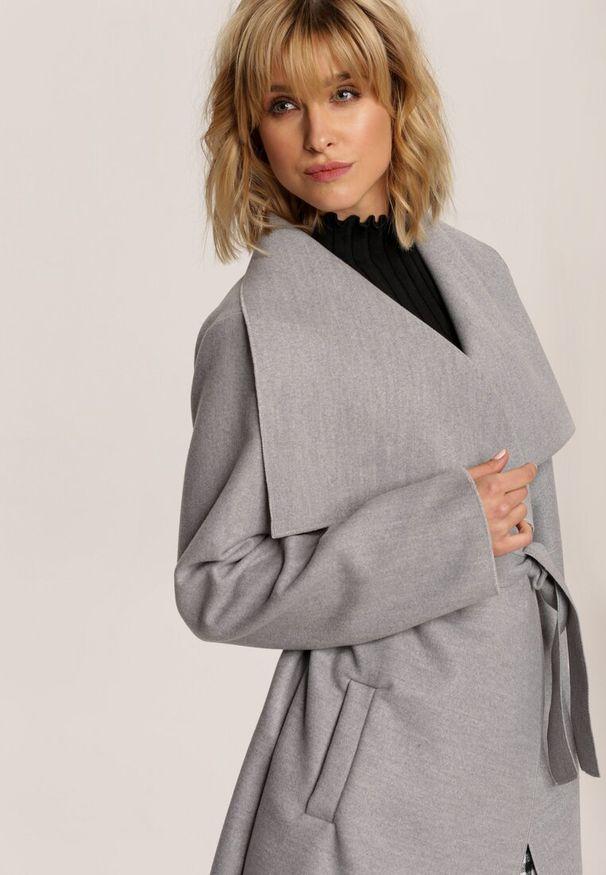 Szary krótki płaszcz Renee