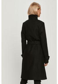 Czarny płaszcz Desigual na co dzień, casualowy, z haftami