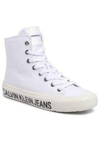 Białe półbuty Calvin Klein Jeans z cholewką, casualowe