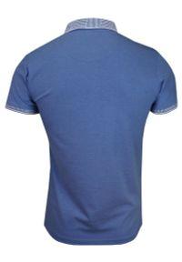 Niebieski t-shirt Brave Soul z krótkim rękawem, na lato, na co dzień, krótki
