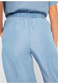Dżinsy culotte TENCEL™ Lyocell, z przyszytym paskiem bonprix jasnoniebieski. Kolor: niebieski