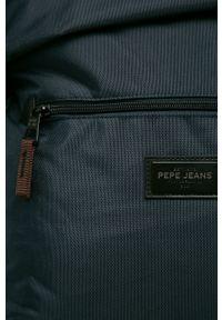 Pepe Jeans - Plecak. Kolor: niebieski. Wzór: paski