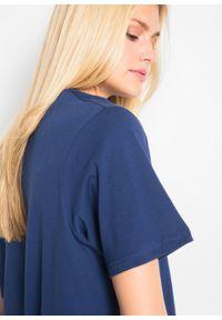 Długi shirt z dekoltem w szpic (5 sztuk), krótki rękaw bonprix jasna limonka + zielony szałwiowy + kobaltowy + jasnoszary melanż + czarny. Kolor: żółty. Długość rękawa: krótki rękaw. Długość: krótkie. Wzór: melanż #5