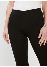 Czarne spodnie bonprix z aplikacjami