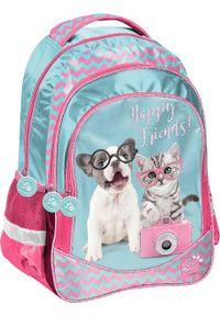 Paso Plecak szkolny Studio Pets Pies i kot niebieski (PTK-181). Kolor: niebieski