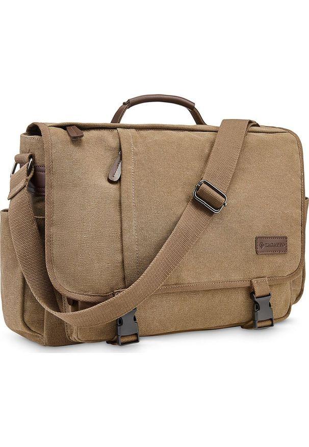 Brązowa torba na laptopa Zagatto