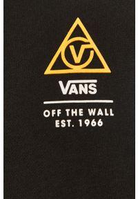 Czarna bluza nierozpinana Vans na co dzień, bez kaptura