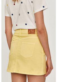 Pepe Jeans - Spódnica Rachel. Okazja: na co dzień. Kolor: żółty. Styl: casual